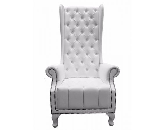 Tufted High Back Chair