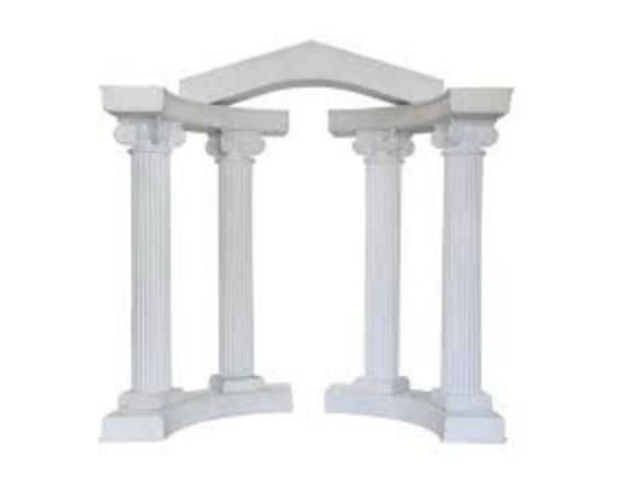 Display - White Colonnade Arch
