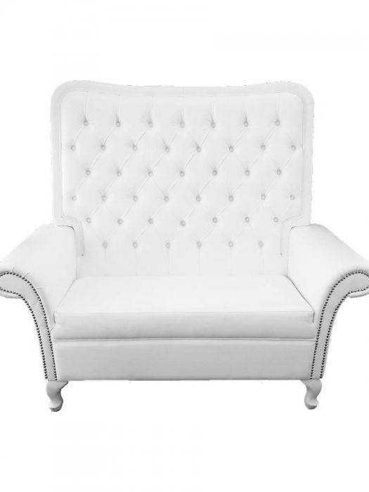 Tufted High Back Love Seat